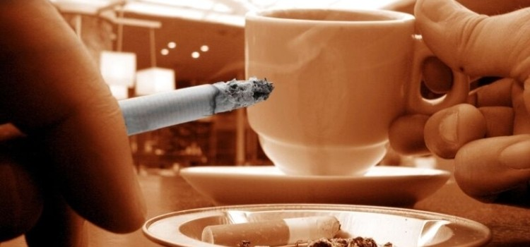 курить утром