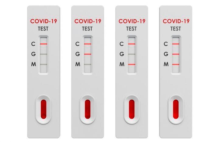 На картинке изображен тест на коронавирус